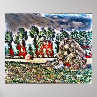 Claude Monet - Haystack en Giverny Poster