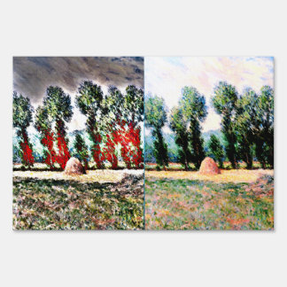 Claude Monet - Haystacks at Giverny Lawn Sign