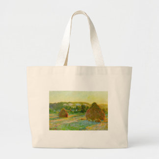 Claude Monet // Haystacks Tote Bags