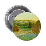 Claude Monet // Haystacks Button