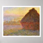 Claude Monet - Haystacks (en la puesta del sol) Impresiones