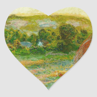 Claude Monet // Haystacks Heart Sticker
