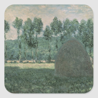 Claude Monet | Haystacks near Giverny, c.1884-89 Square Sticker