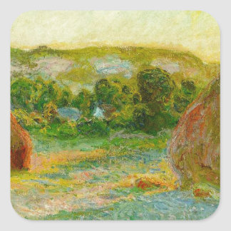 Claude Monet // Haystacks Square Sticker