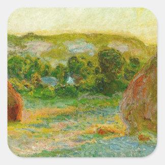 Claude Monet // Haystacks Square Sticker