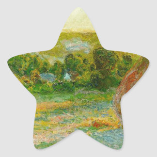 Claude Monet // Haystacks Star Sticker