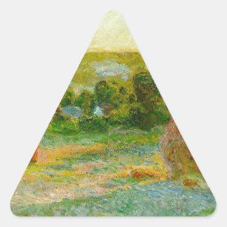 Claude Monet // Haystacks Triangle Sticker