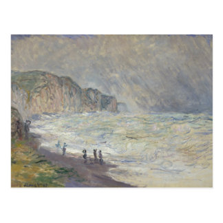 Claude Monet - Heavy Sea at Pourville Postcard