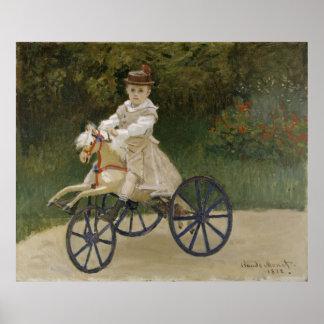 Claude Monet hobby horse Poster