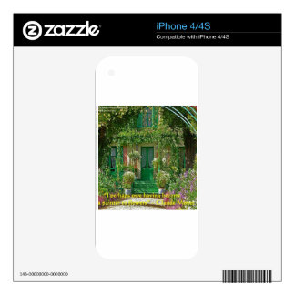 Claude Monet Home & Quote Gifts Cards & Tees iPhone 4 Decal