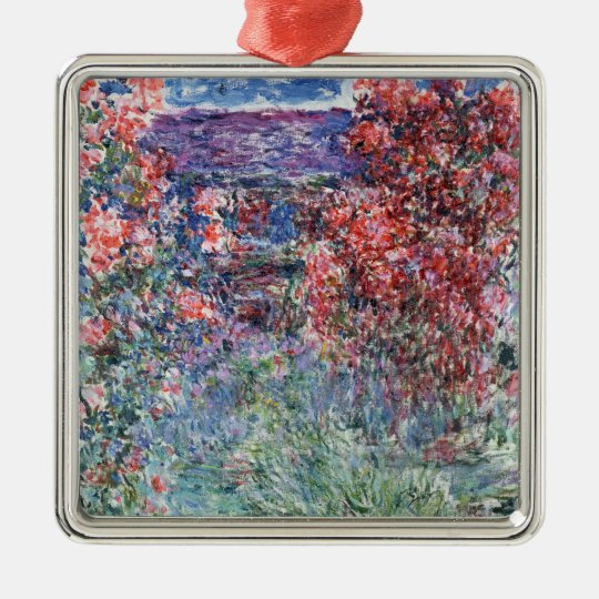Claude Monet | House at Giverny under the Roses Metal Ornament
