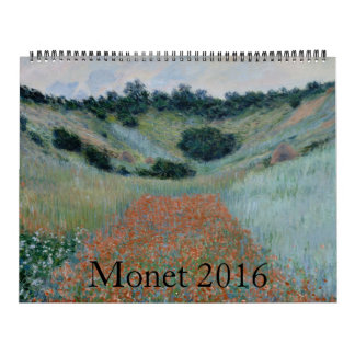 Claude Monet Huge 2016 Calendar