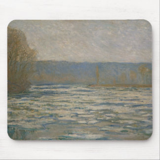 Claude Monet - Ice breaking up on the Seine Mouse Pad