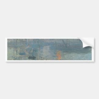 Claude Monet, impresión, soleil levant Etiqueta De Parachoque