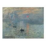 Claude Monet, impresión, soleil levant Tarjeta Postal