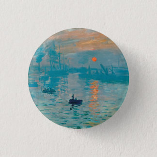 CLAUDE MONET - Impression, sunrise 1872 Pinback Button