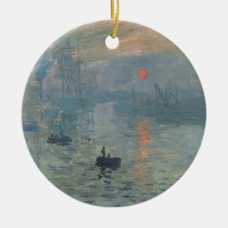 Claude Monet Impression Sunrise Soleil Levant Ceramic Ornament