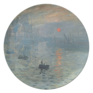 Claude Monet Impression Sunrise Soleil Levant Dinner Plate