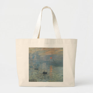 Claude Monet Impression Sunrise Soleil Levant Large Tote Bag