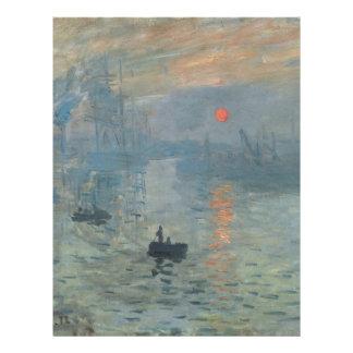Claude Monet Impression Sunrise Soleil Levant Letterhead