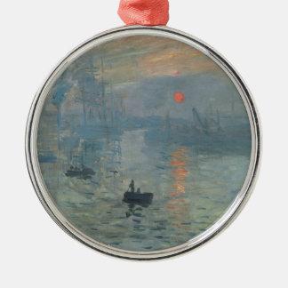 Claude Monet Impression Sunrise Soleil Levant Metal Ornament