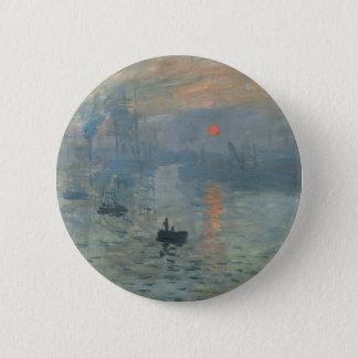 Claude Monet Impression Sunrise Soleil Levant Pinback Button