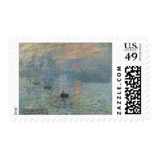 Claude Monet Impression Sunrise Soleil Levant Postage
