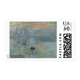 Claude Monet Impression Sunrise Soleil Levant Postage