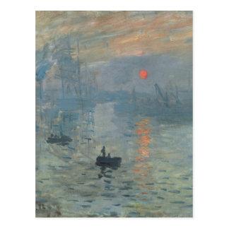 Claude Monet Impression Sunrise Soleil Levant Postcard