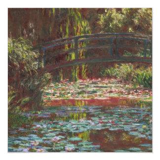 "Claude Monet * Invitación 5.25"" X 5.25"""