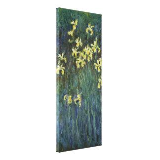 Claude Monet - iris amarillos Lona Estirada Galerías