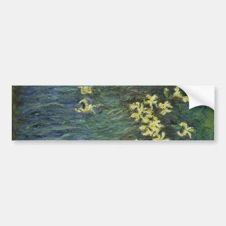 Claude Monet - iris amarillos Pegatina Para Auto