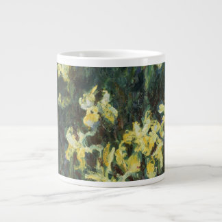 Claude Monet - iris amarillos Tazas Extra Grande