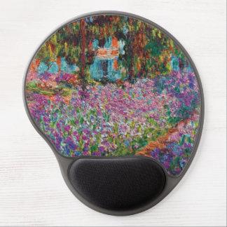 Claude Monet - iris en bella arte del jardín de Alfombrillas De Ratón Con Gel