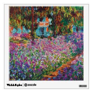 Claude Monet - iris en bella arte del jardín de Vinilo Adhesivo