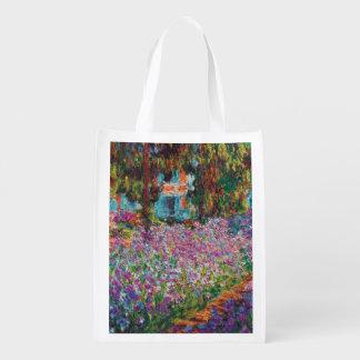 Claude Monet - iris en el jardín de Monet Bolsa Para La Compra