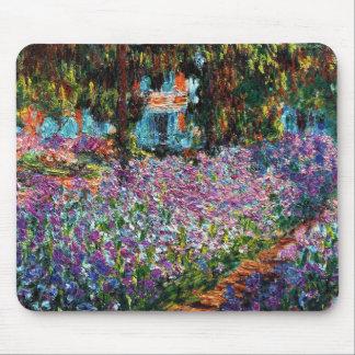 Claude Monet Iris en el jardín de Monet Alfombrilla De Ratones
