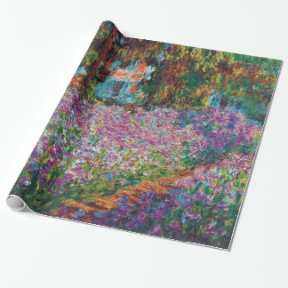 Claude Monet - iris en el jardín de Monet Papel De Regalo