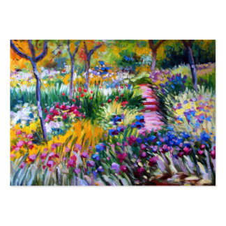 Claude Monet: Iris Garden by Giverny Large Business Cards (Pack Of 100)