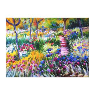 Claude Monet: Iris Garden by Giverny Canvas Print