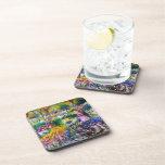 Claude Monet: Iris Garden by Giverny Beverage Coasters