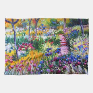 Claude Monet: Iris Garden by Giverny Hand Towel