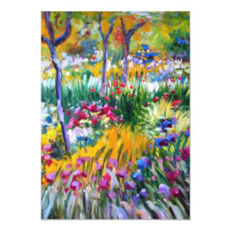 Claude Monet: Iris Garden by Giverny 5x7 Paper Invitation Card