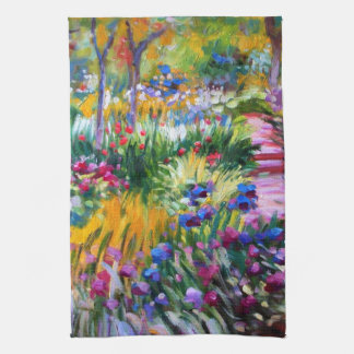 Claude Monet: Iris Garden by Giverny Kitchen Towels