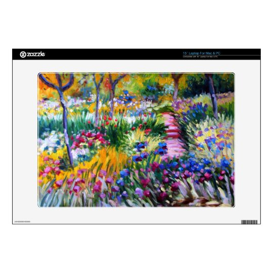 Claude Monet: Iris Garden by Giverny Laptop Decals