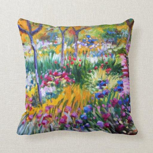Claude Monet: Iris Garden by Giverny Pillow