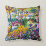 Claude Monet: Iris Garden by Giverny Pillows