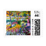 Claude Monet: Iris Garden by Giverny Postage Stamps