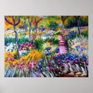 Claude Monet: Iris Garden by Giverny Poster