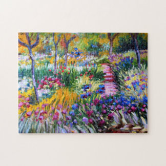 Claude Monet: Iris Garden by Giverny Puzzles